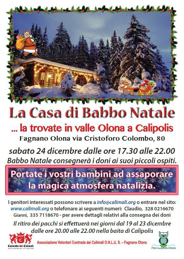 Babbo Natale A Casa Dei Bambini.La Casa Di Babbo Natale Calimali